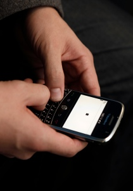 Texting on Blackberry